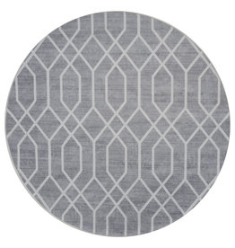 Vloerkleed Pattern Rond Grijs ø200 cm