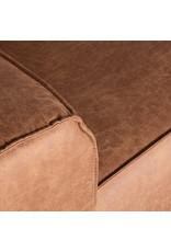 Hoekbank Modena - Cognac - Microfiber - Ottomane + 2,5-Zits