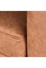 Hoekbank Genua - Cognac - Microfiber - 2-Zits + Hoek + 2-Zits
