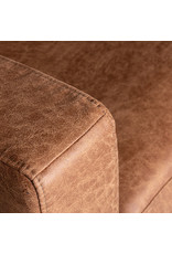 Hoekbank Genua - Cognac - Microfiber - Ottomane + 2,5-Zits