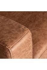 Hoekbank Genua - Cognac - Microfiber - 2,5-Zits + Ottomane