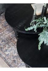 Salontafel Cilamon - 90 cm - Zwart blad - Zwart onderstel