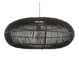 Rotan hanglamp zwart Oliver M