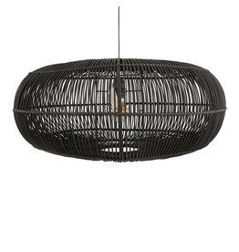 Rotan hanglamp zwart Oliver S