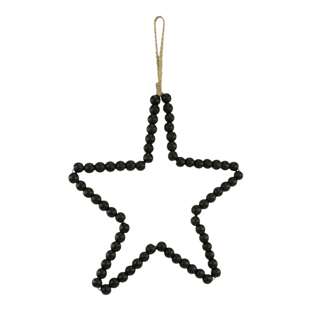 Kralen hanger ster zwart