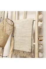 Decoratie ladder hout wit Kayo L