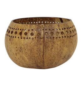 Waxinelichthouder kokosnoot Citra