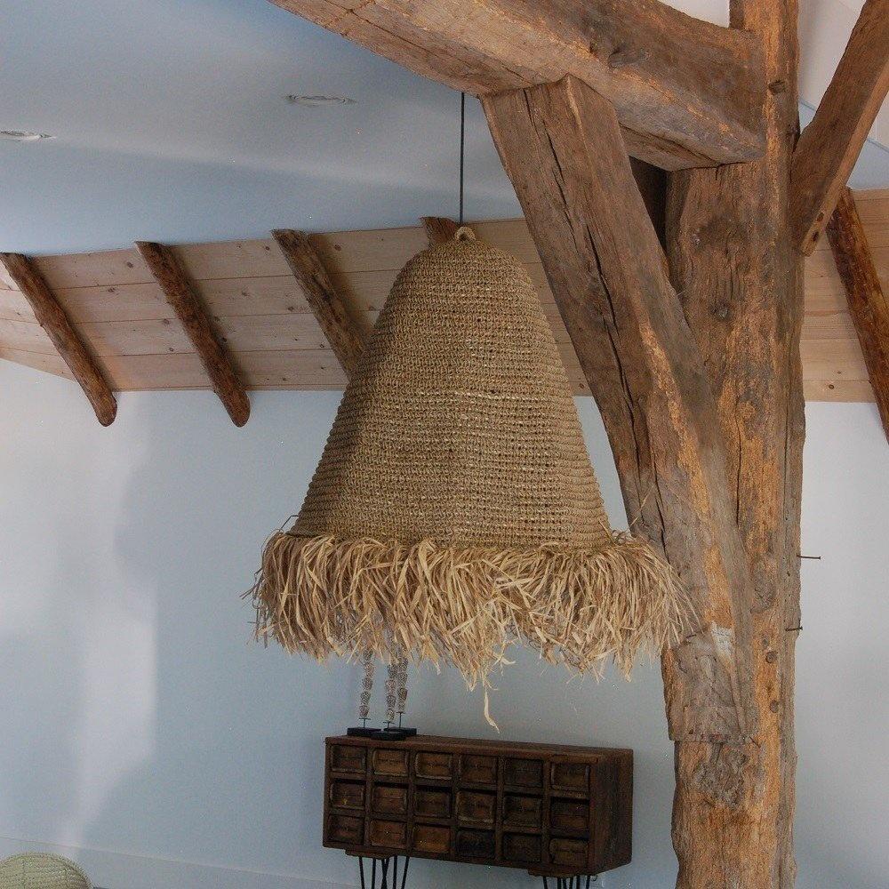 Lamp raffia naturel Mojo L