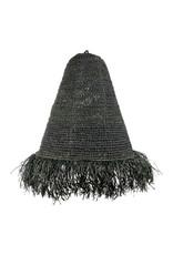 Lamp raffia zwart Mojo L