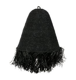 Lamp raffia zwart Mojo M