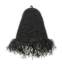 Lamp raffia zwart Mojo S