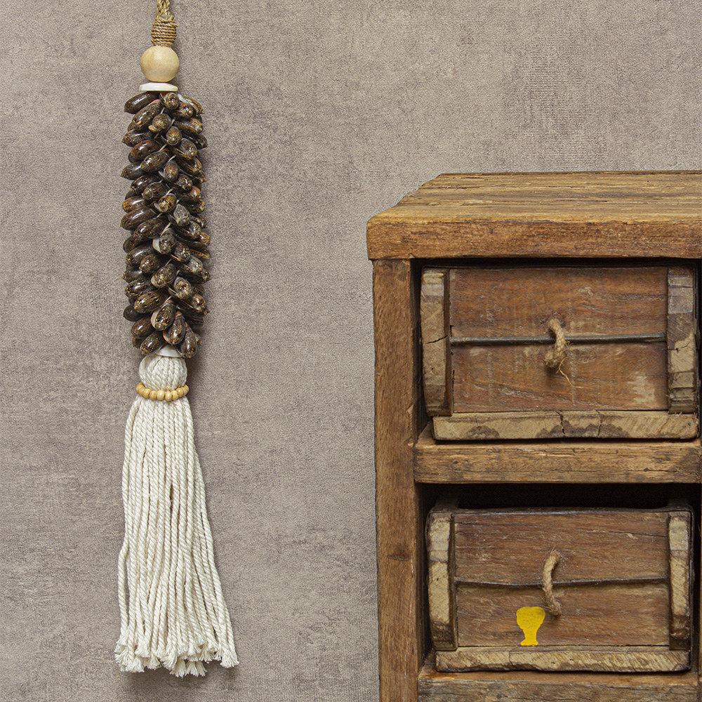 Hanger schelp bruin Sita