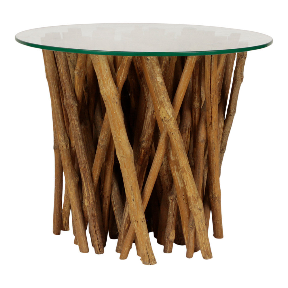 Bijzettafel hout Meja