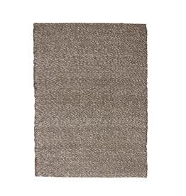 Vloerkleed PET grijs Stone L