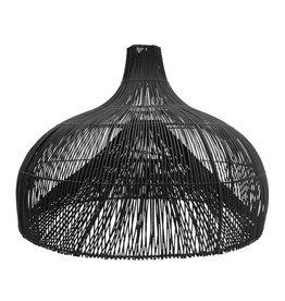 Lamp rotan zwart Maggie XL