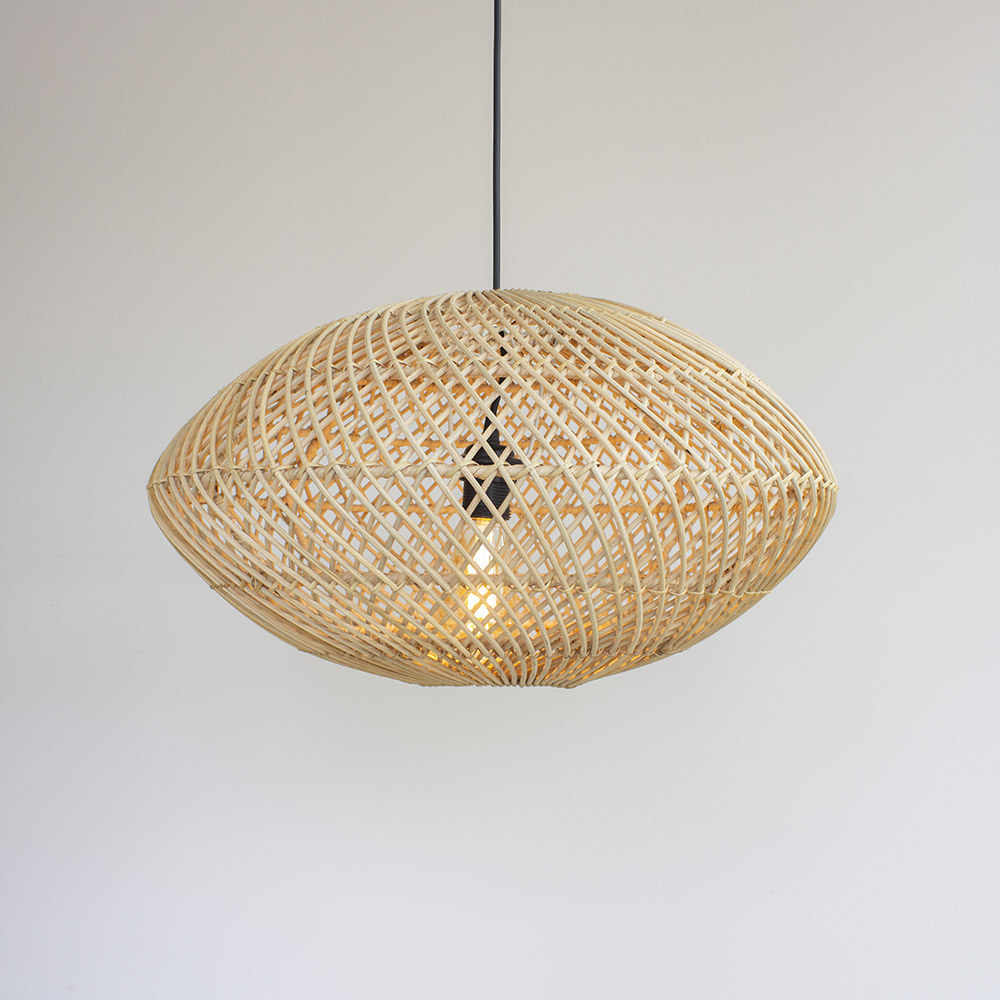 Lamp rotan ovaal M