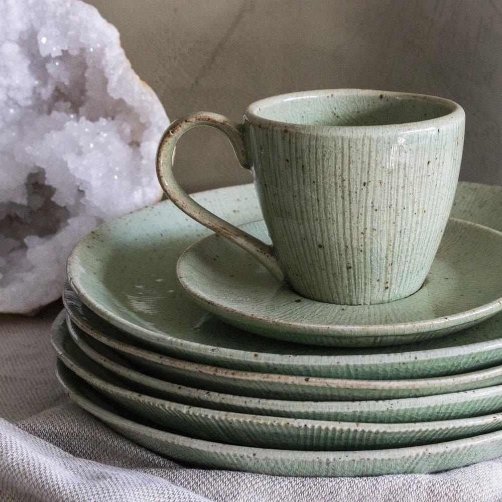 Kop en schotel stoneware Gina