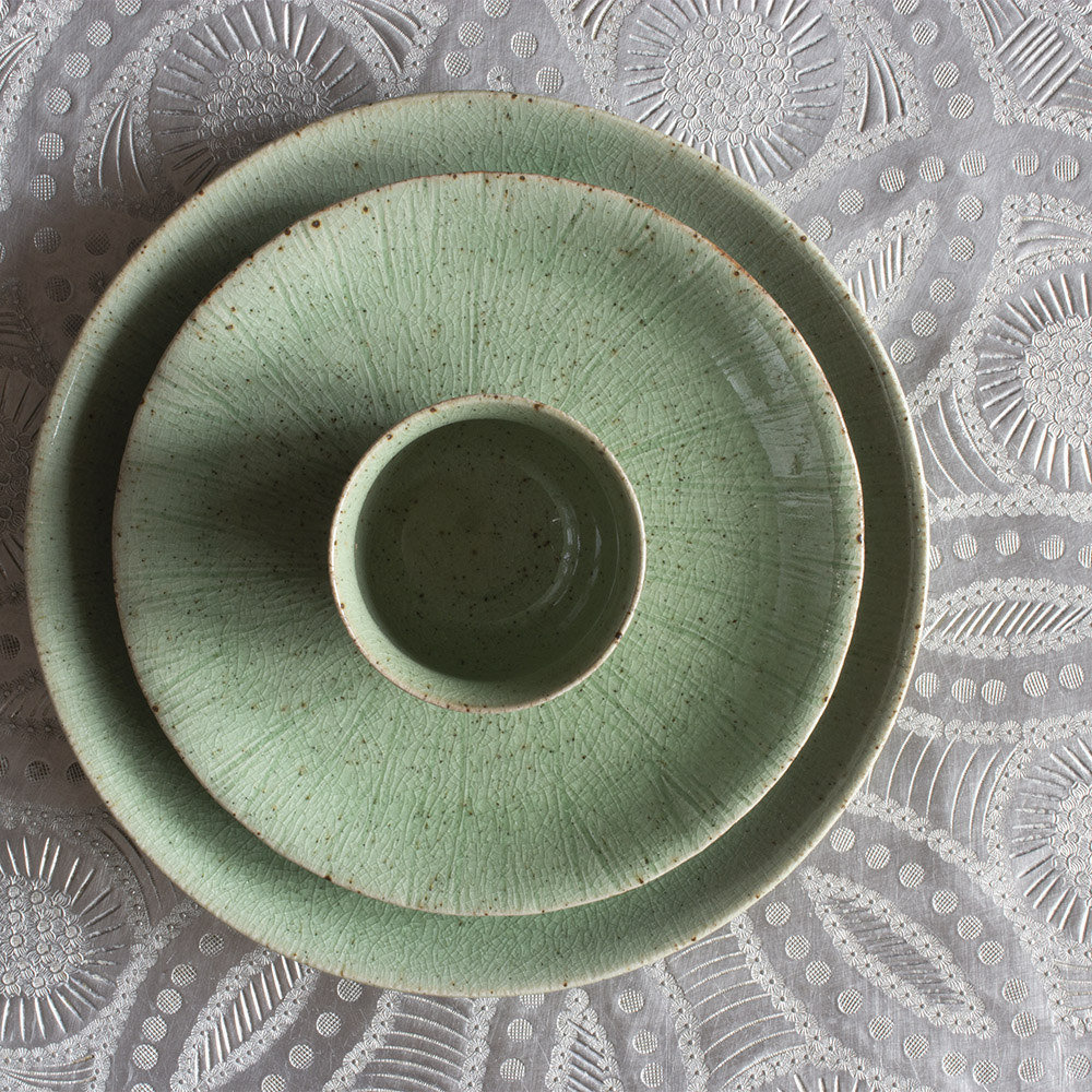 Dinerbord stoneware Gina