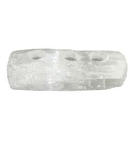 Waxinelichthouder seleniet Log-3