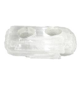 Waxinelichthouder seleniet Log-2