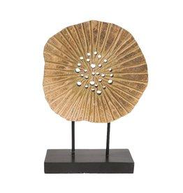 Ornament mangohout Cirkel L