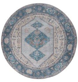 Vloerkleed Karaca Blue 03 Rond ø120 cm