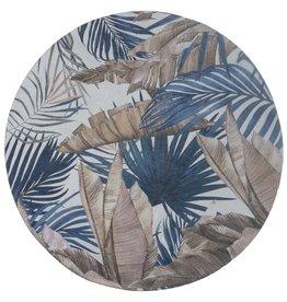 Vloerkleed Palm Blue Rond ø120 cm