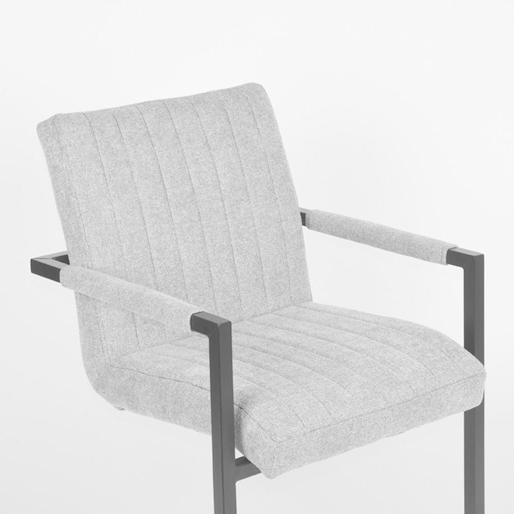 Eetkamerstoel Milo - Zinc - Weave
