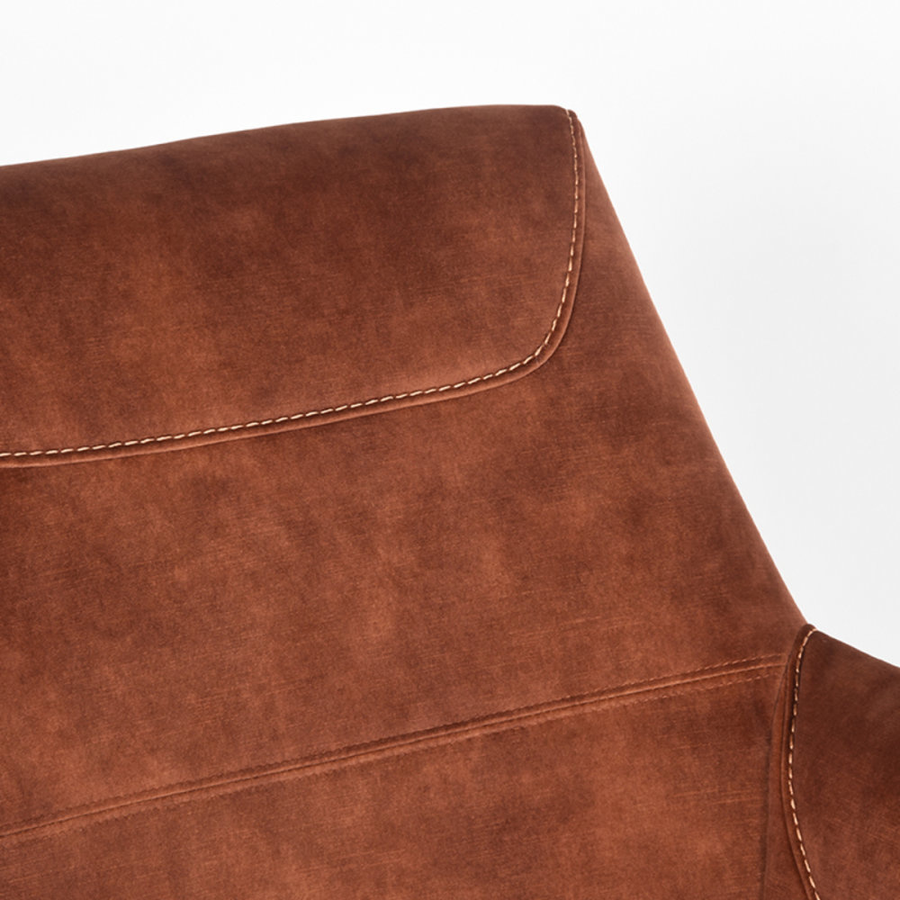 Fauteuil Toby - Rust - Velours