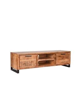 Tv-meubel Glasgow - Rough - Mangohout - 160 cm