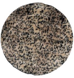 Vloerkleed Donsie Black/Brown Rond ø180 cm
