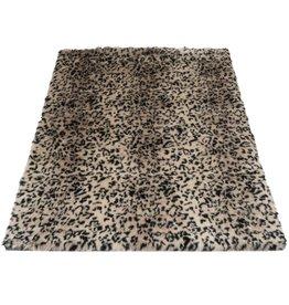 Vloerkleed Donsie Black/Brown 160 x 230 cm