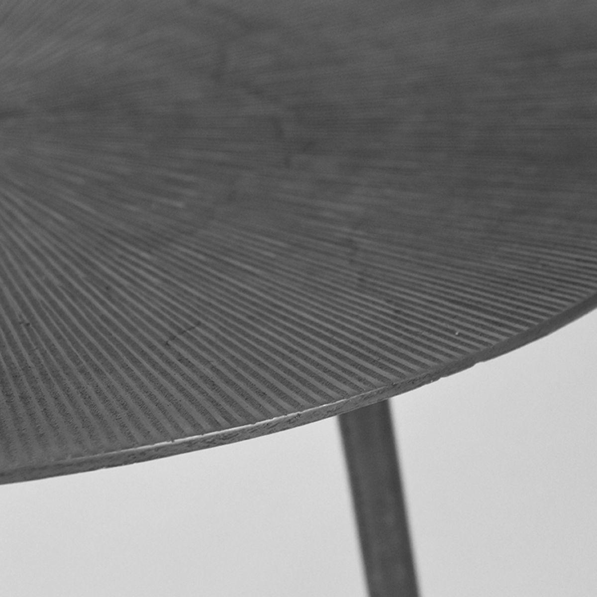 Bijzettafel Nobby - Grijs - Metaal - 40 cm