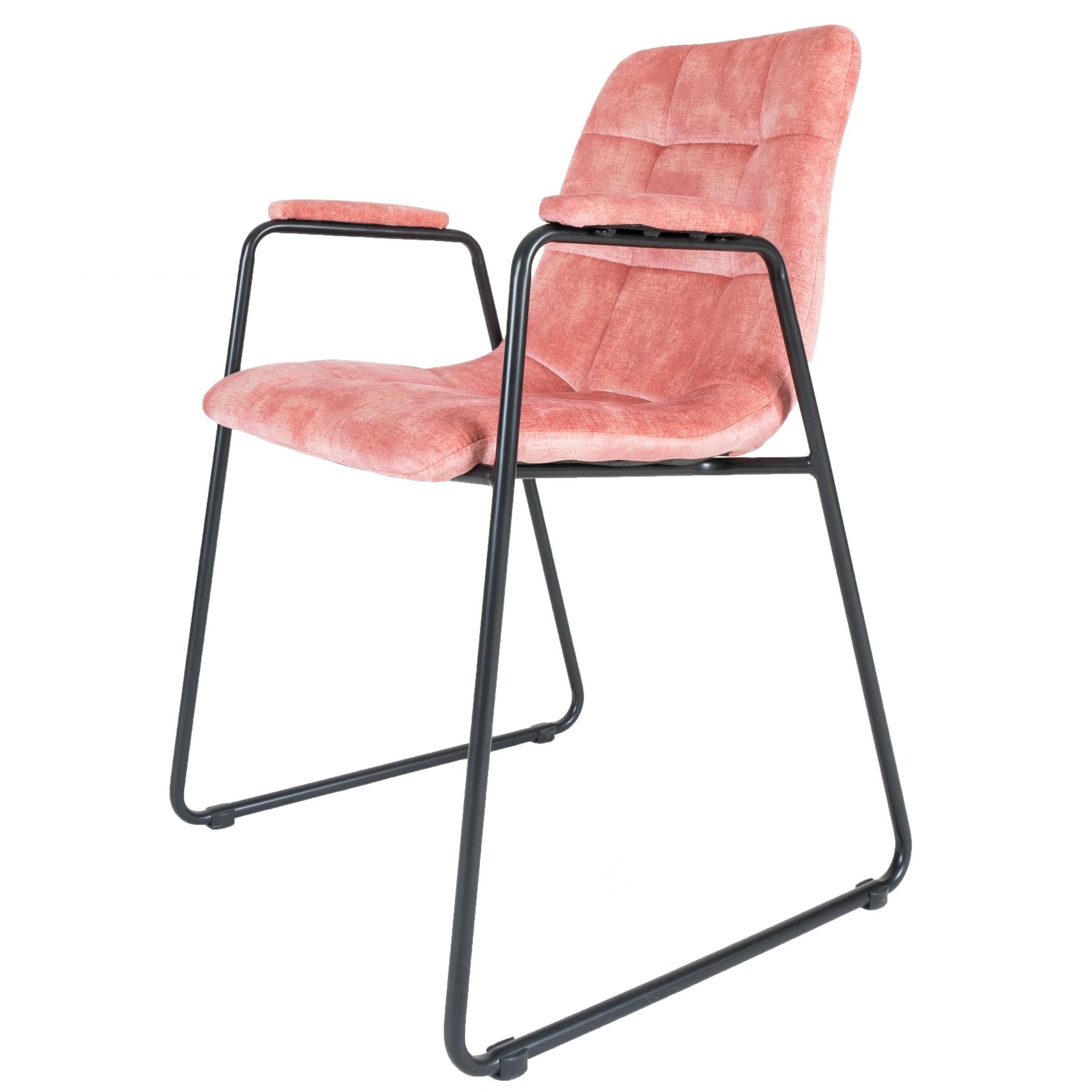 Eetkamerstoel Maxime Velvet Pink