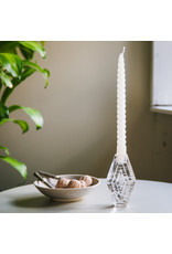 Candle holder infinite hexagon clear