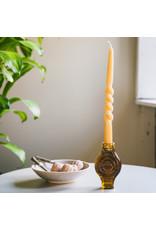 Candle holder infinite round amber