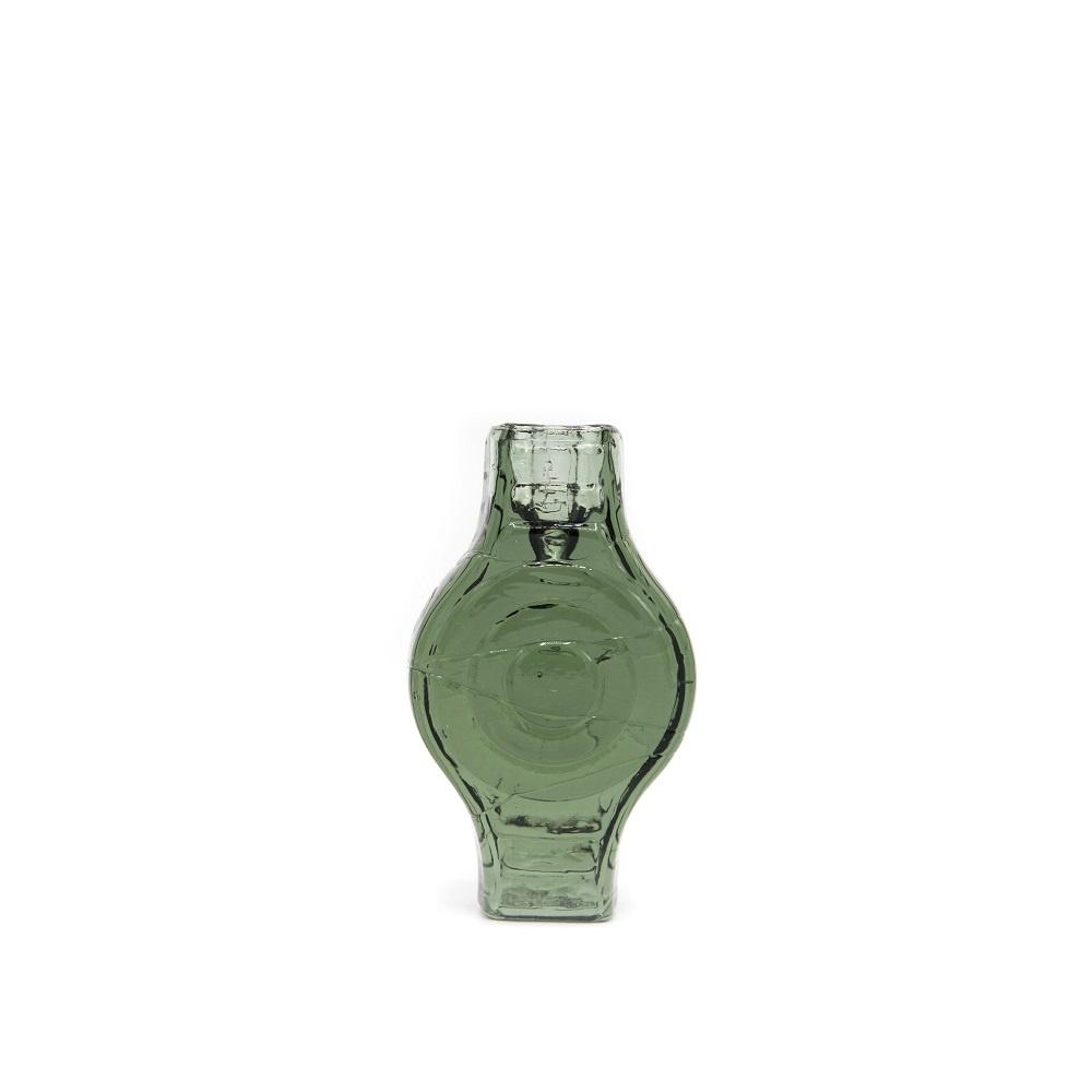 Candle holder infinite round smokey green