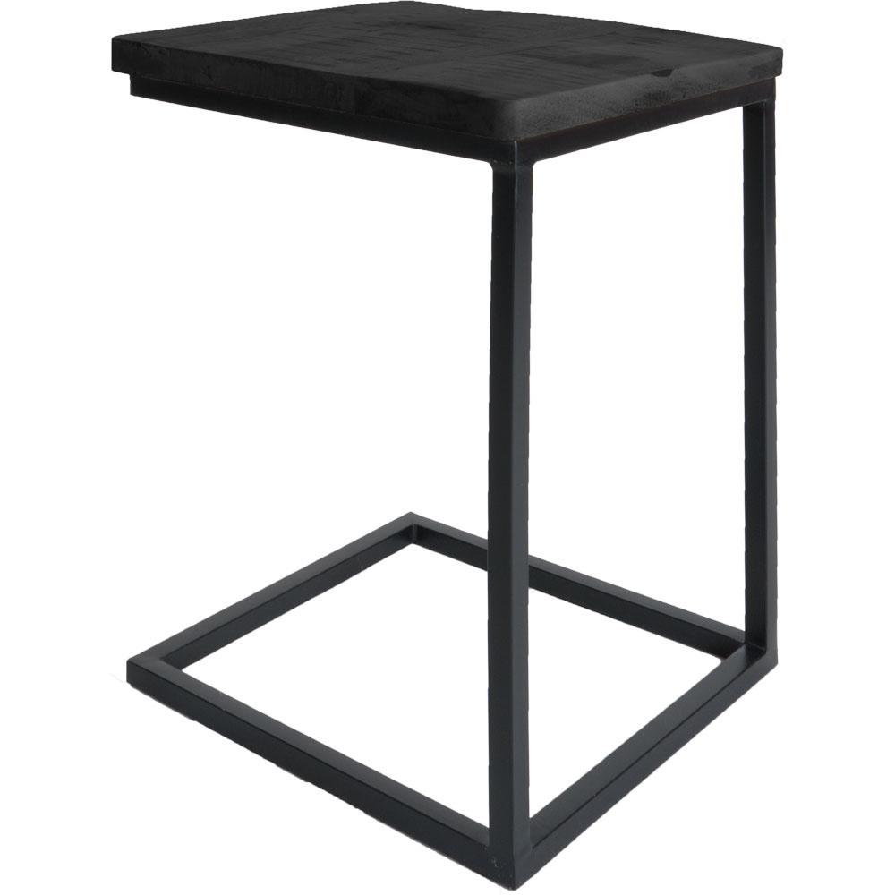 Laptoptafel Roos - Zwart blad - Zwart onderstel