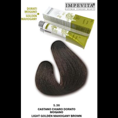 Imperity Impevita Haarverf Ammoniak Vrij 5.36 Licht Goud Mahonie Bruin