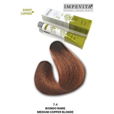 Imperity Impevita Haarverf Ammoniak Vrij 7.4 Medium Koper Bruin