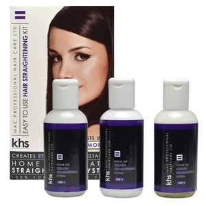 KHS Keratin Hair System Straight Smoothing System Kit