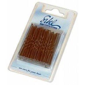 Sibel Haarspelden Dun 75mm - 50 Stuks - Zwart