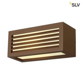 SLV BOX-L E27 ROESTKLEUR wandlamp