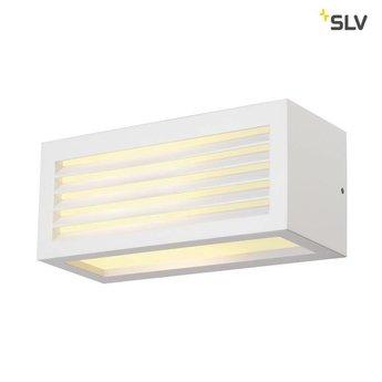 SLV BOX-L E27 WIT wandlamp