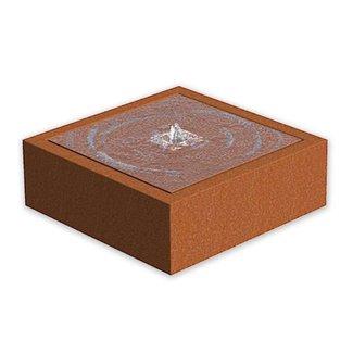 Watertafel cortenstaal 120x120x40 cm