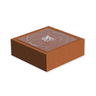 Watertafel cortenstaal 100x100x40 cm