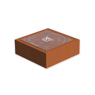 Watertafel cortenstaal 80x80x40 cm