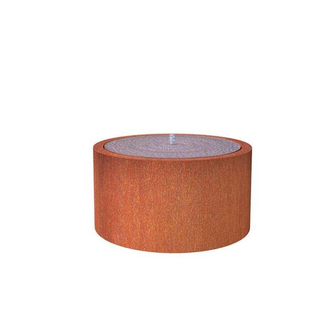 Watertafel cortenstaal 100x75 cm