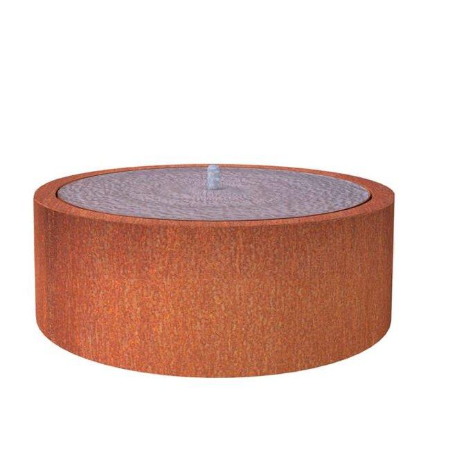 Watertafel cortenstaal 145x40 cm