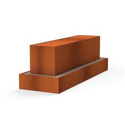 Waterblok cortenstaal 300 x 70 x 70 cm
